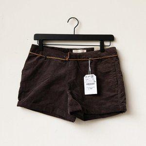 NWT Zara Girls Mini Corduroy Shorts 13/14